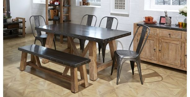 Atom Fixed Top Table & Set of 4 Chairs Atom | DFS | Kitchen diner ...