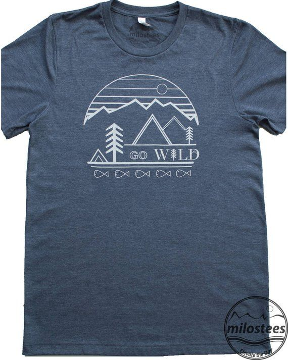 Outdoors shirt, go wild be outside in a soft blend of dark blue