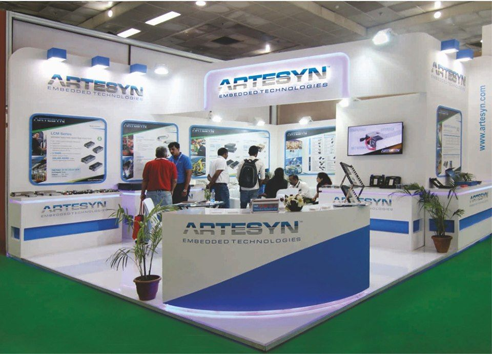 Calculative Approach Was Used By Panache To Represent The Theme Of Artesyn At Electronica 2017 Booth Design Exhibition Booth Design Exhibition Stall Design