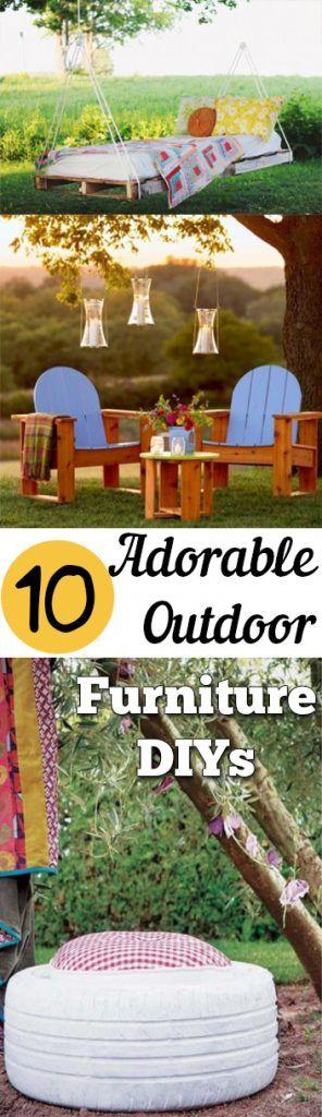 10 Adorable Outdoor Furniture DIYs Discover more ideas about Diy