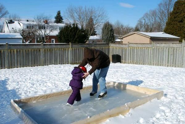 Easiest DIY backyard ice rink | Backyard ice rink, Ice ...