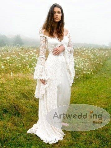 pagan wedding dress country girl brideweddingsbaby