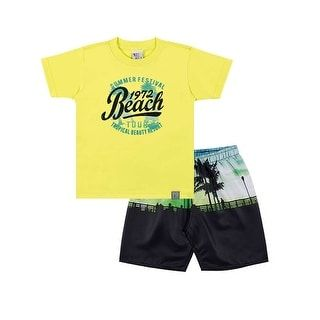 92fb1a7a29d3 Shop for Toddler Boy Outfit Graphic Tee Shirt and Shorts Set Pulla ...