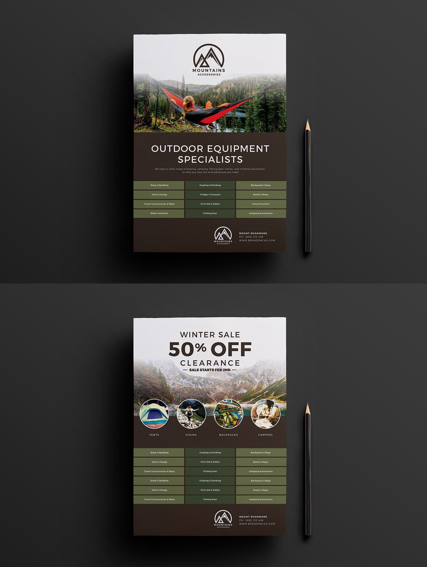 free camping poster template for