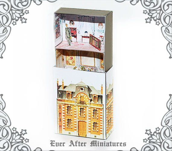 ANTIQUE Matchbox Dollhouse Kit #2 – DIY Printable Victorian Dollhouse Miniature Doll House in a Matc #victoriandollhouse