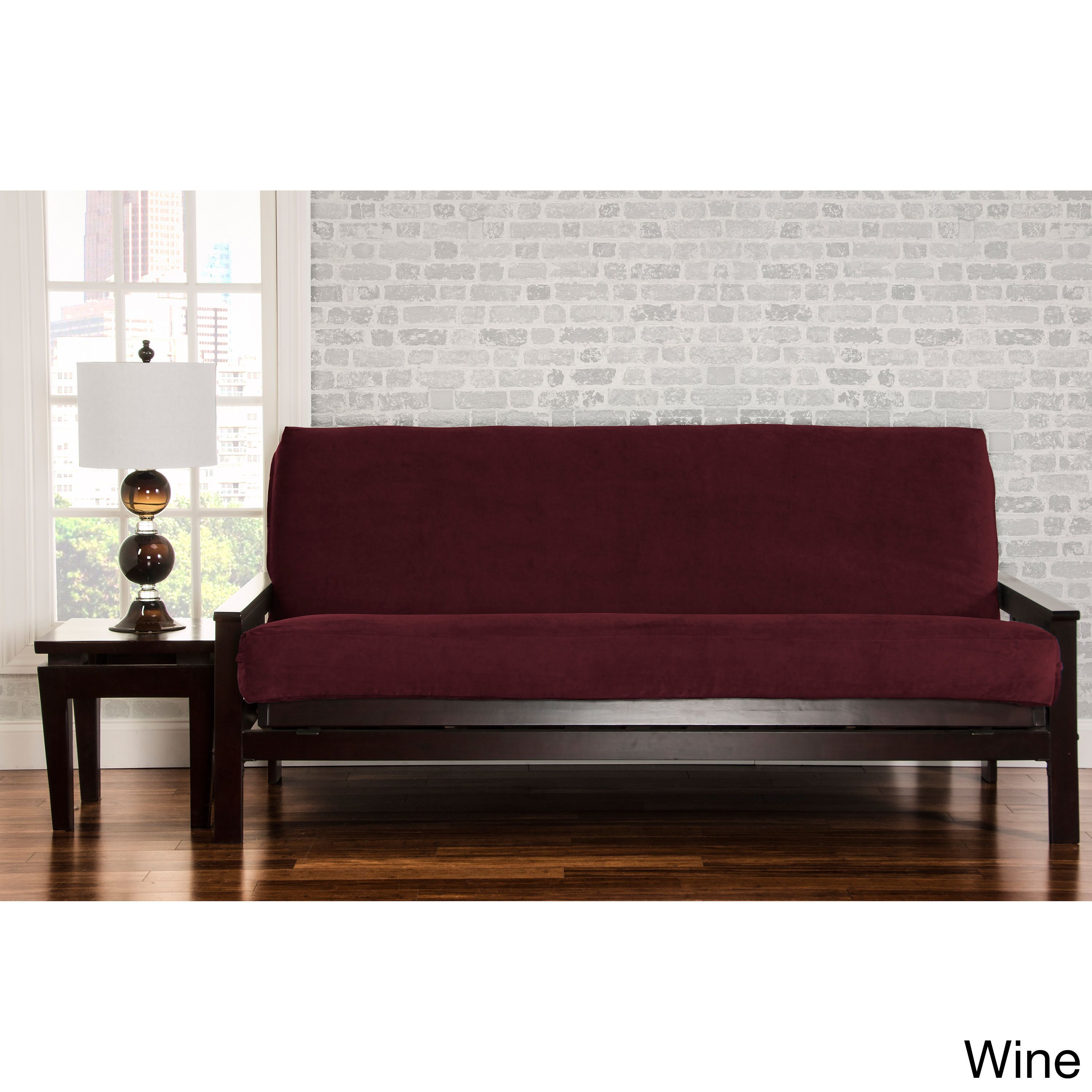 Siscovers Padma Futon Cover Wine Queen Size Red Solid