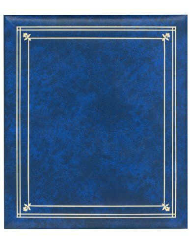 Post Bound Royal Blue Pocket Album For 5x7 And 8x10 Prints 5x7