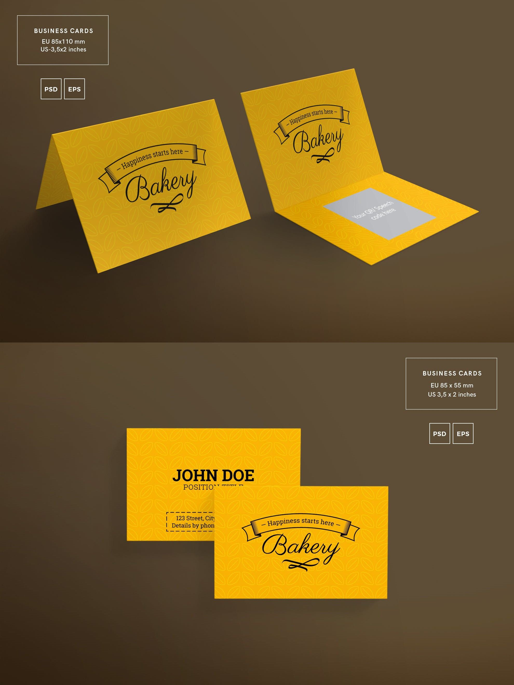Bakery Food Business Card Template By Ambergraphics On Envato Elements Bakery Business Cards Templates Food Business Card Bakery Business Cards