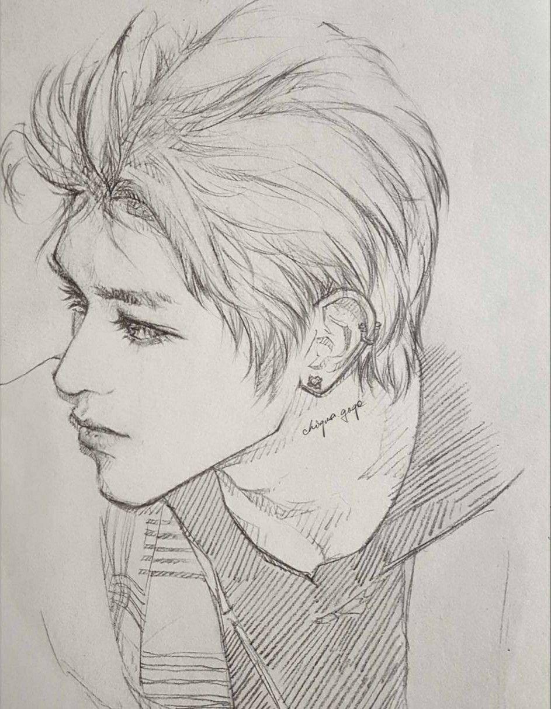 Ig Chigusa Gogo Taeyong Nct Fanart Kpop Drawing Anime Guy Sketsa Gambar Pensil Gambar