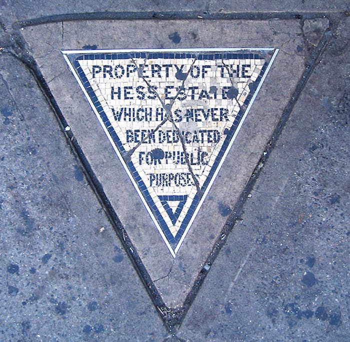 Cool story behind this little tile triangle in the West Village.