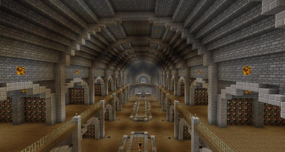 Underground Minecraft Library   Minecraft Underground
