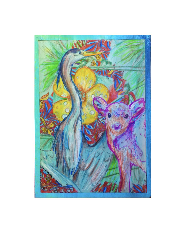 Drawing x cm blue heron artworks poetry birds free