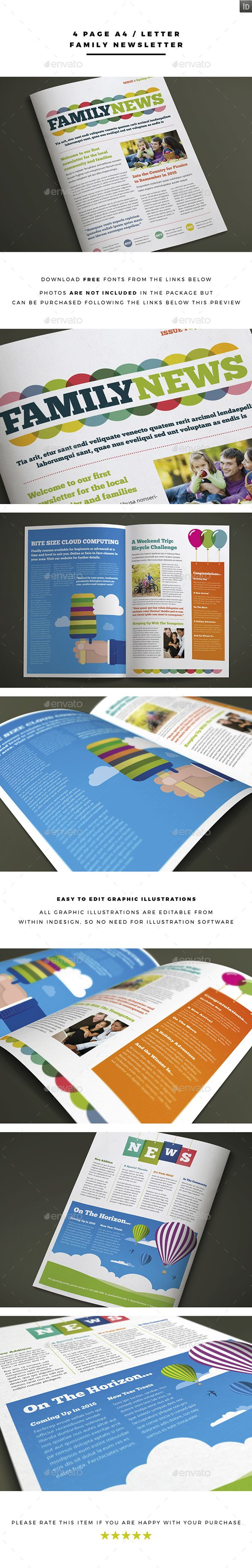 family newsletter print templates newsletter templates and font logo