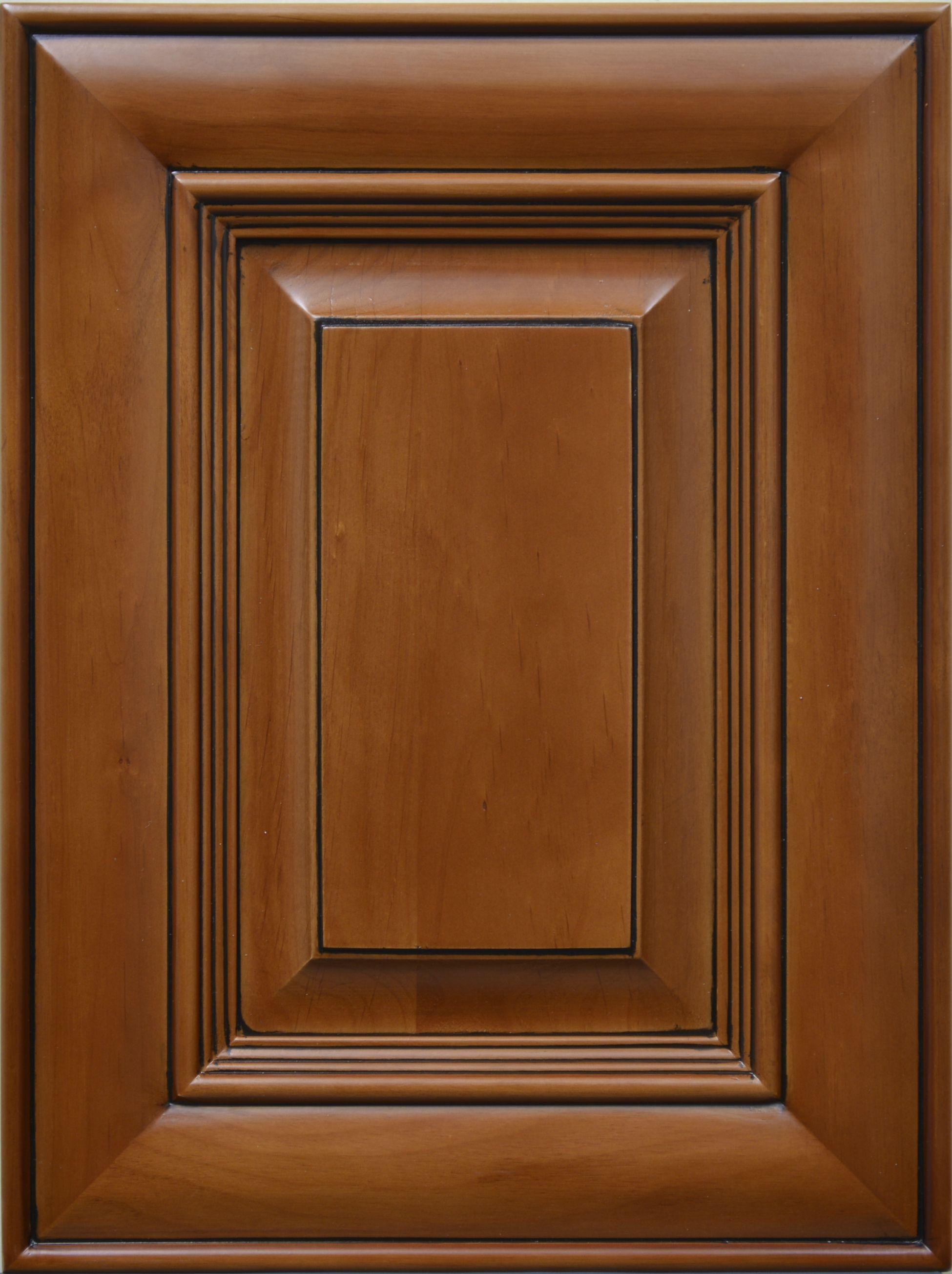 Cherry Glazed Espresso Cabinet Door Sample Fremont Cabinet Door