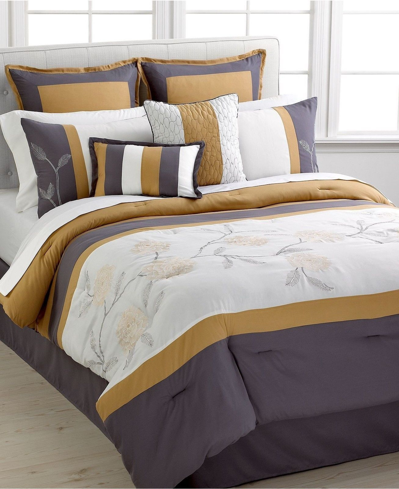 Red And Gold Comforters King Hallmart Collectibles Nylo 8 Piece