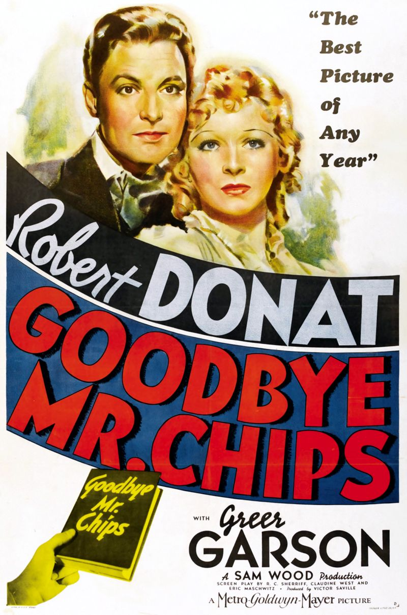 Goodbye Mr Chips 1939 Robert Donat Classic Movie Posters Great Movies