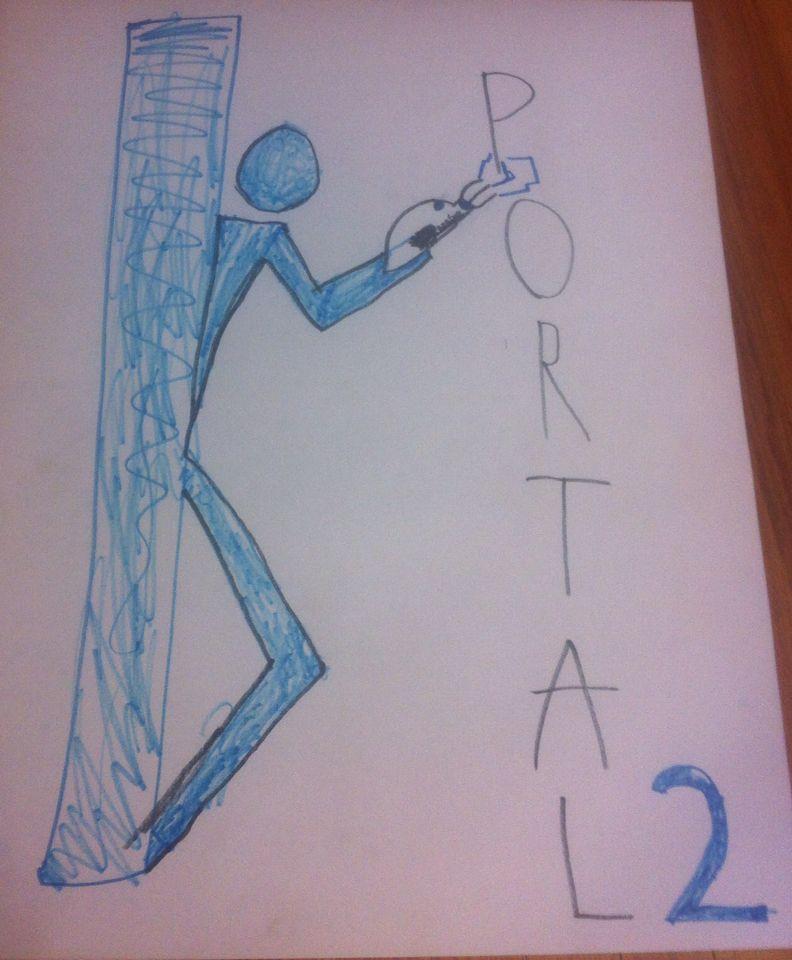 My version of the Portal 2 logo.