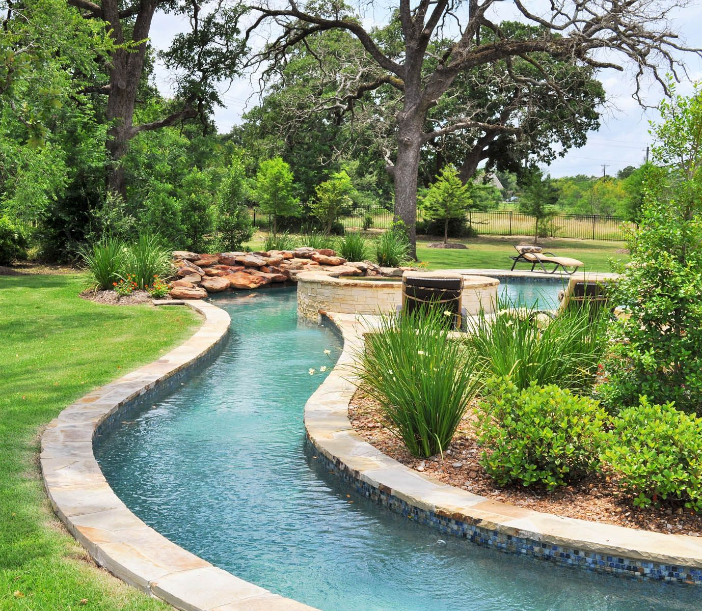 lazy river in your backyard dream home decor