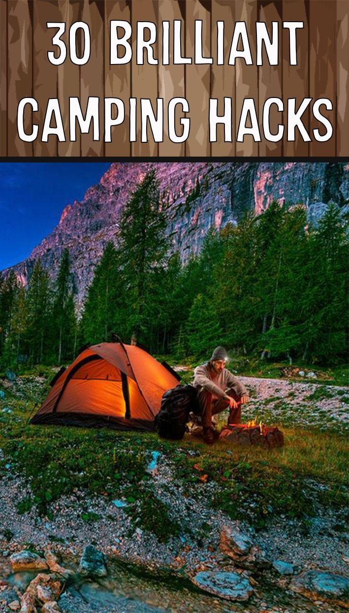 30 BRILLIANT CAMPING HACKS   Camping essentials, Camping ...