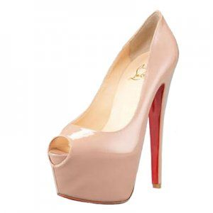 Christian Louboutin Highness 160mm Patent Peep Toe Pumps Nude [CLA0646] - $118.36 : Designershoes-shopping, World collection of Top Designer high heel UP TO 90% OFF!