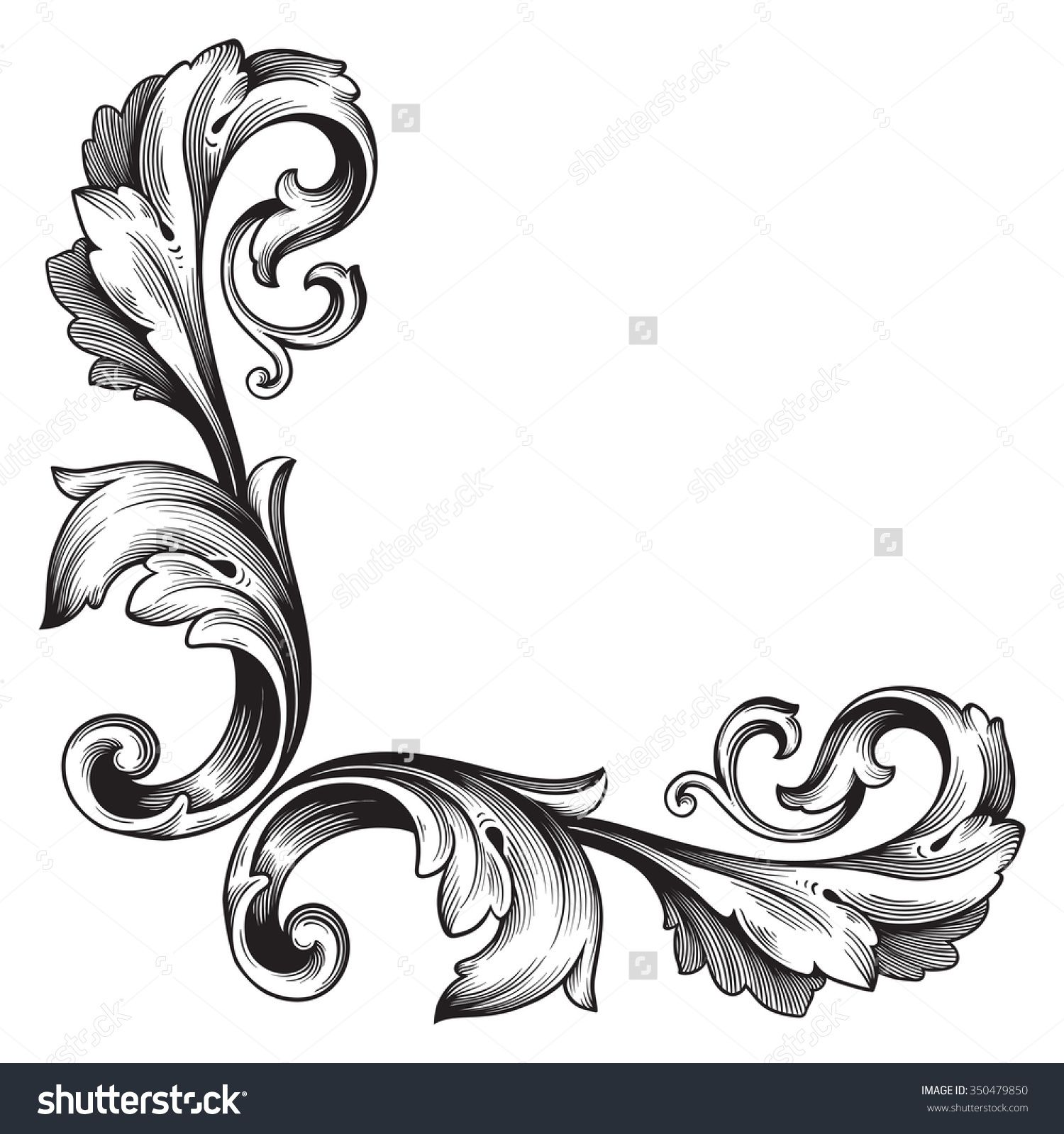 Antique Scroll Design: Filigree Tattoo - Google Search