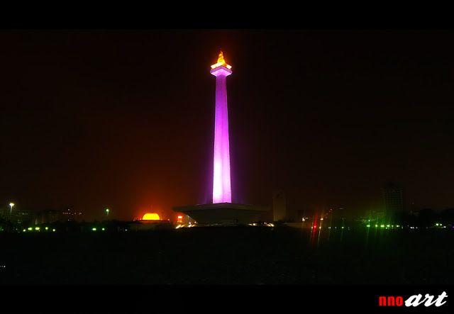 Foto Tugu Monas Di Malam Hari Jakarta Filters