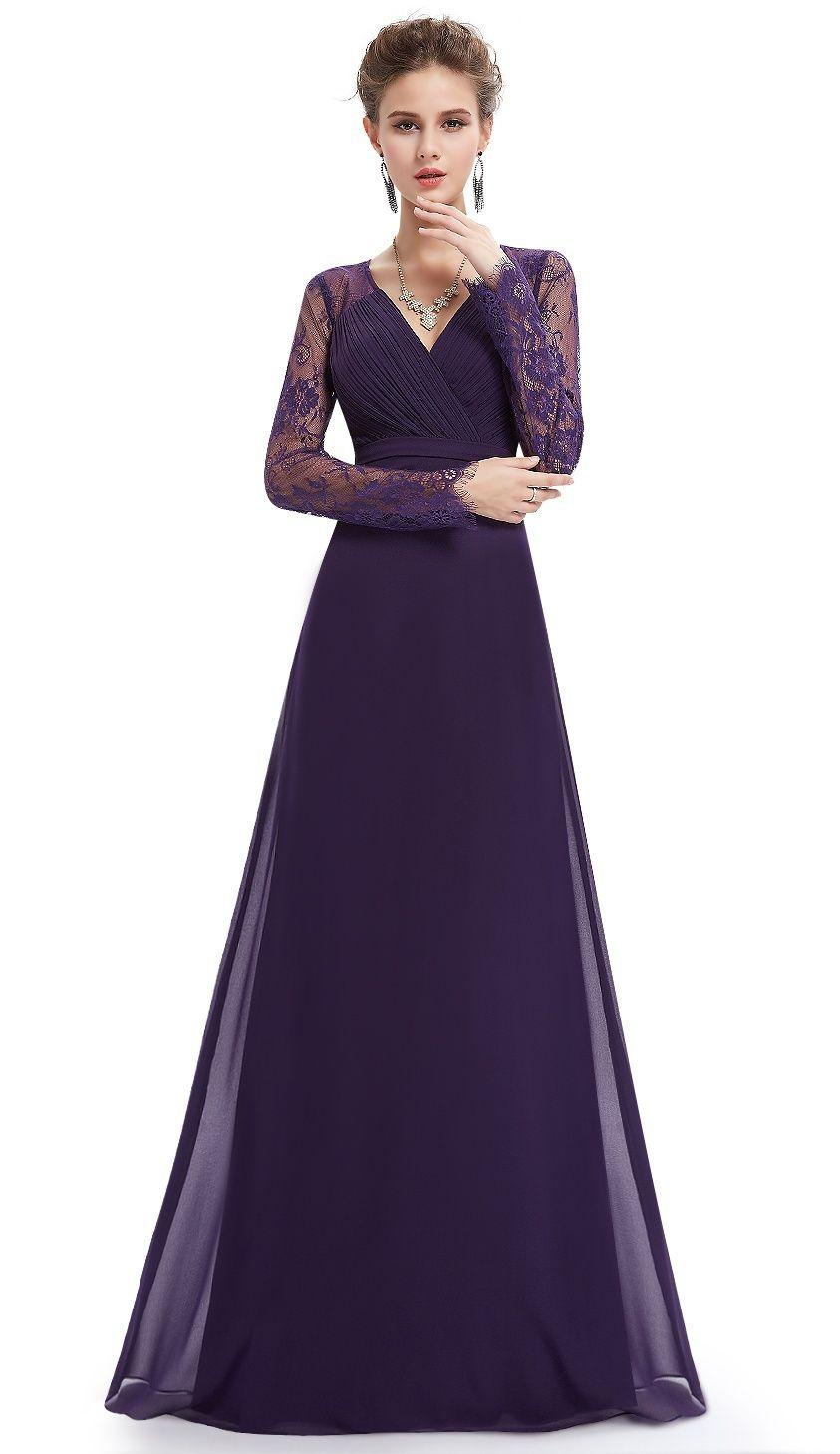 Ever Pretty Ever Pretty Women S Elegant Full Length Wedding Guest Dresses For Women 08692 Dark Purple Us12 Walmart Com Long Sleeve Lace Bridesmaid Dresses Prom Dresses Long With Sleeves Gorgeous Prom Dresses [ 1459 x 843 Pixel ]