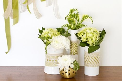Decorate A Vase With Custom Printed Fabric Diy Crafts