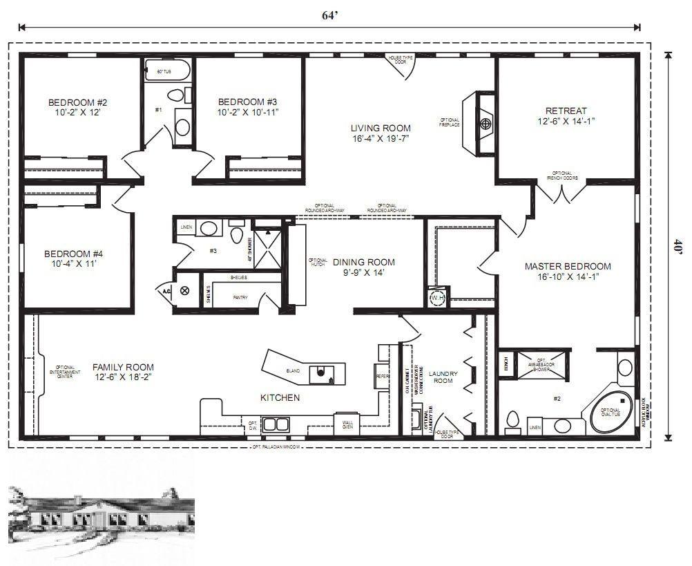 The Mulberry Modular Home Floor Plan Jacobsen Homes Modular Home Floor Plans Modular Home Plans Modular Floor Plans