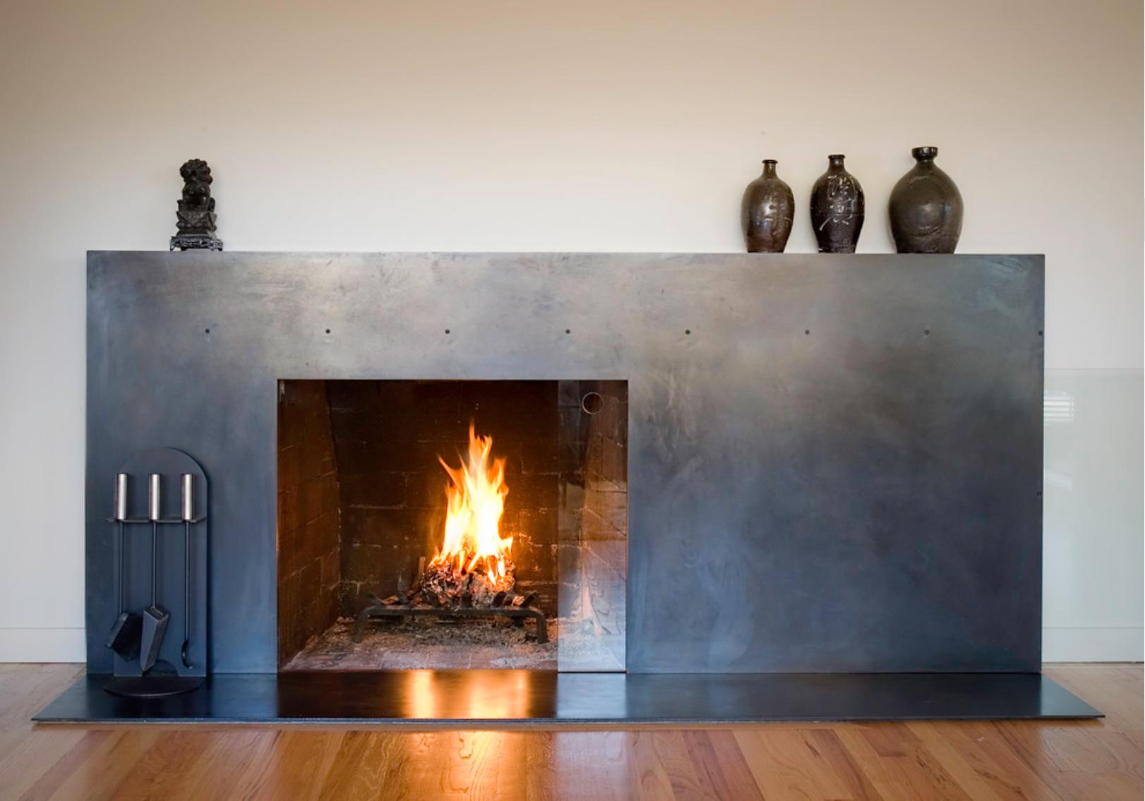 42 Steel Surrounds Ideas Fireplace, Black Metal Fire Surround