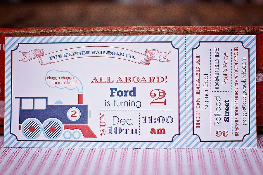 Printable Train Ticket Birthday Invitation, DIY \/\/ PARTY \/\/ Kids - free ticket maker template