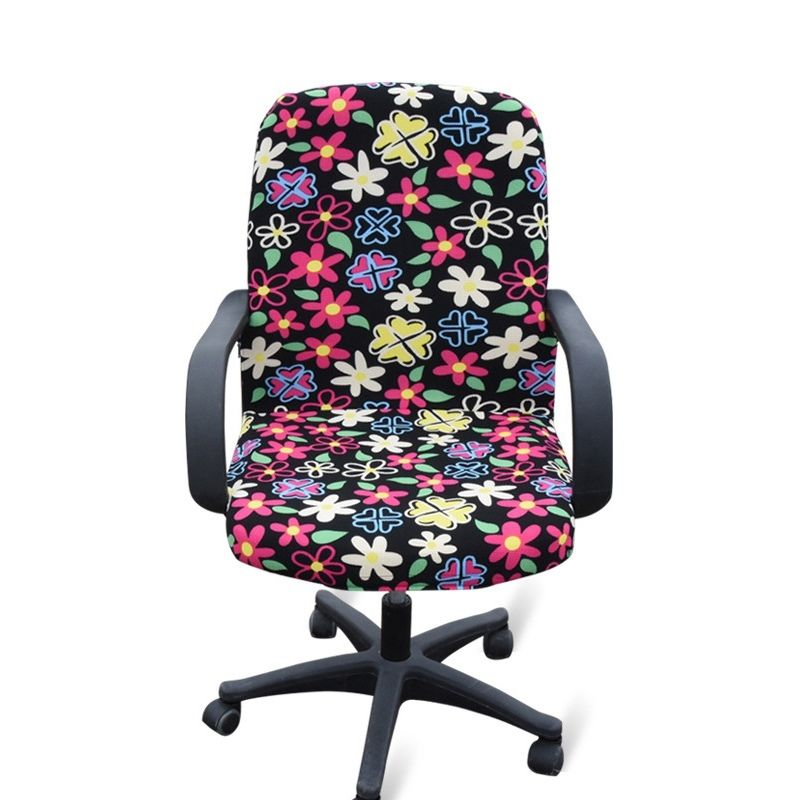 Office Chair Covers Ebay Recliner India 9 6 Gbp Cover Simple Armchair Protector Swivel Elastic Slipcover