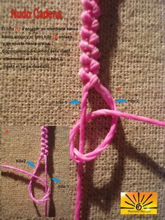 Nudo cadena con dos hilos