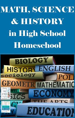 Tips on teaching Math, Science, History in the High School years in your Homeschool. Every Bed of Roses #sciencehistory