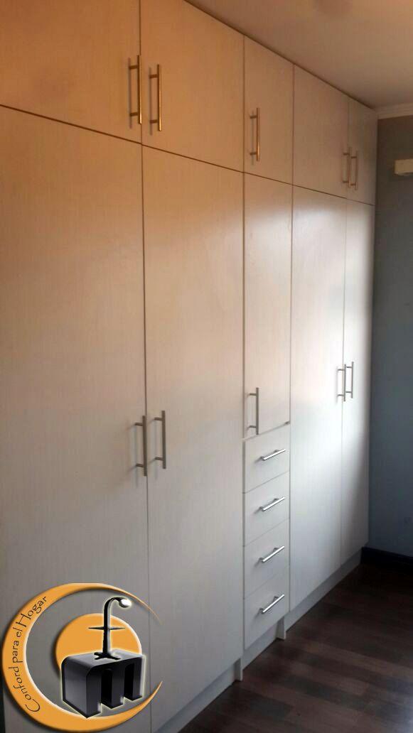 Closet. Material Melmina tono blanca. Medida 2,7 mts de largo x 2,60 ...