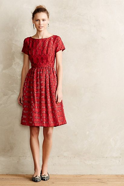 f83f8c79d95 NWOT Anthropologie By Moulinette Soeurs Rubied Lace Dress Sz 6 fit 2 ...
