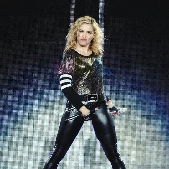 Madonna On Stage With Images Madonna Madona Material Girls