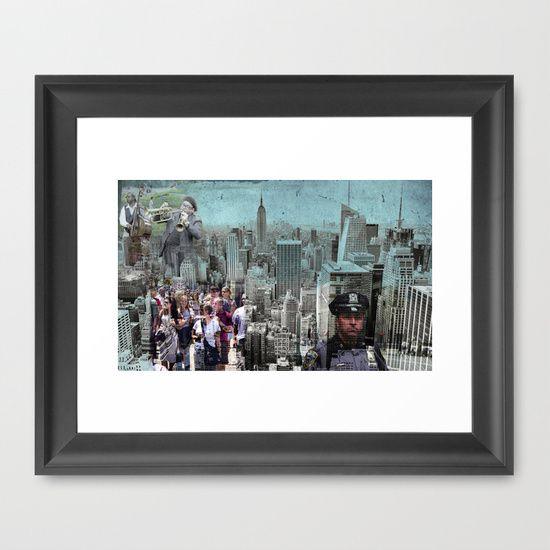 #Manhattan Framed #Art Print