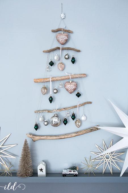 DIY Weihnachtsbaum aus Ästen • Ich Liebe Deko