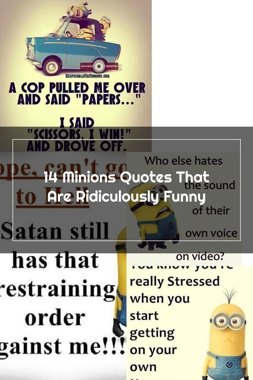 Cheer Yourself Up With These Ultra Hilarious Quotes From The Minions In 2020 Funny Quotes Minions Quotes Quotes
