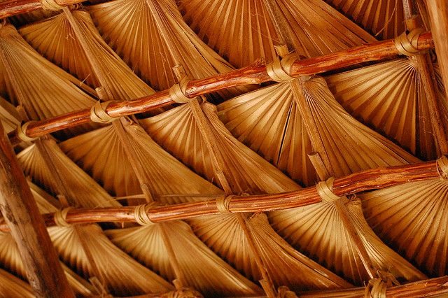Palm Patterns In The Roof Boutique Hotels Design Roof Decoration Natural Architecture