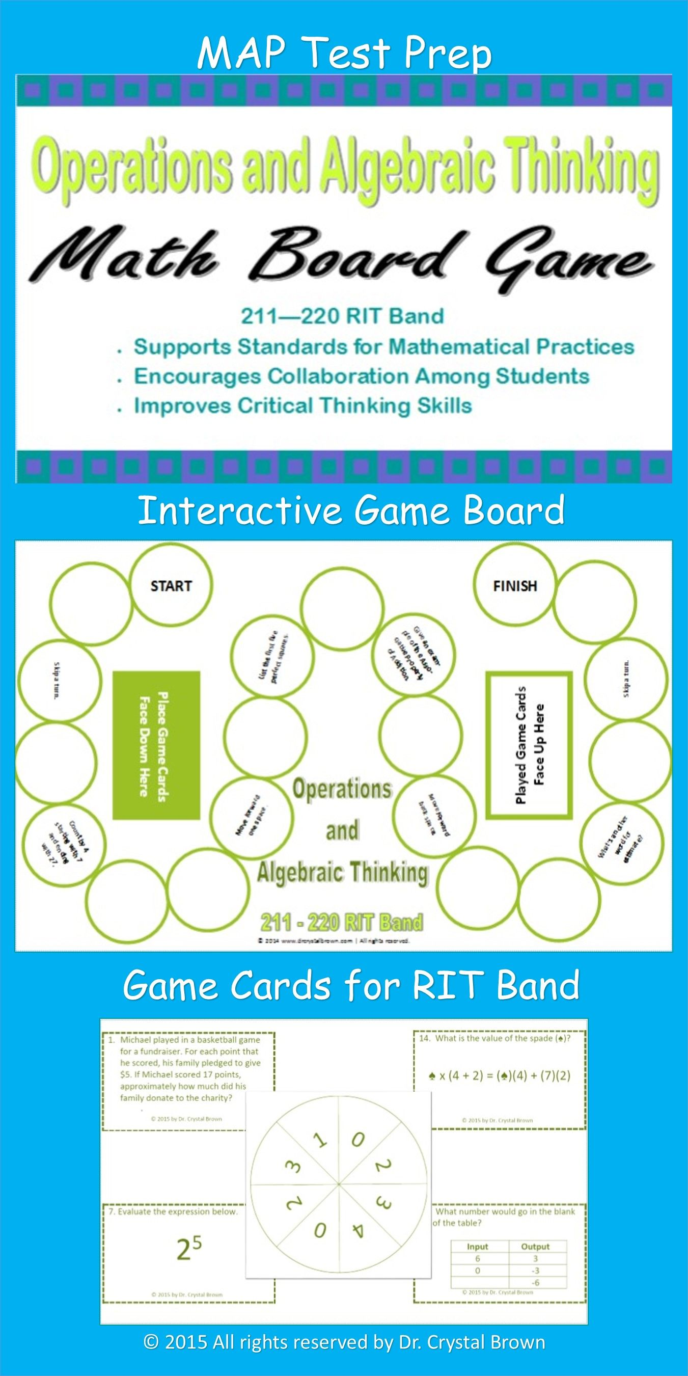Operations and Algebraic Thinking Game for RIT Band 211-220 | Math ...