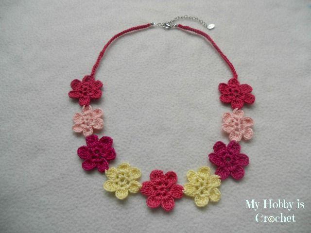 My Hobby Is Crochet Jewelry Pinterest Crochet Flowers Crochet