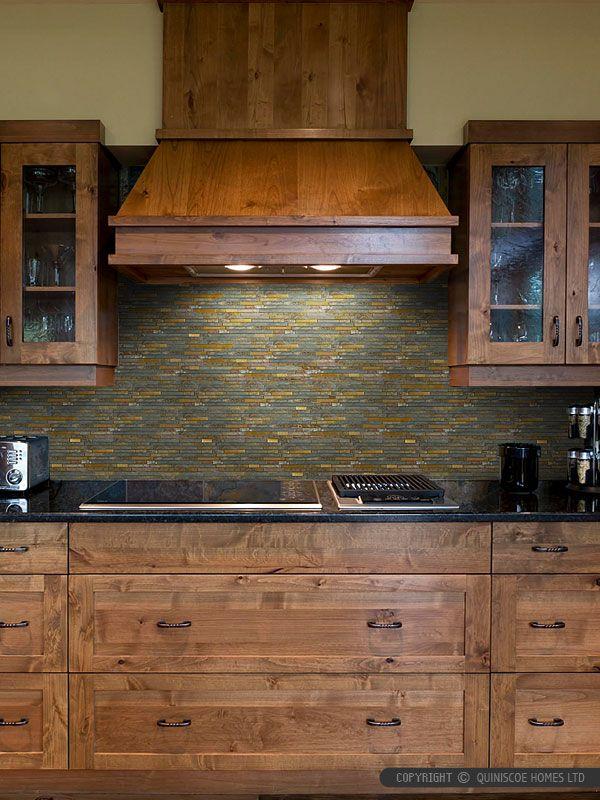 Rustic Copper Linear Natural Slate Blend Mosaic Tile Kitchen Backsplash Sink