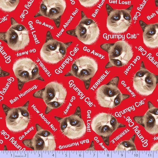 9722-0160, R11 Grumpy Cat, Fabric Gallery, Marcus Fabrics