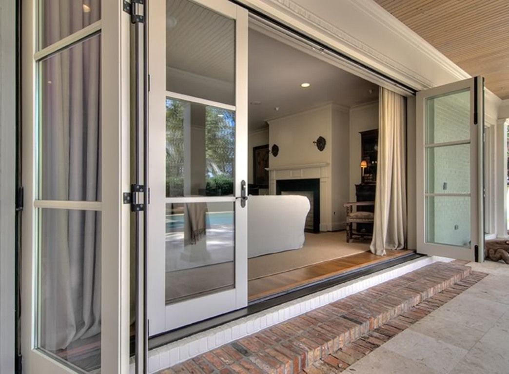 Image of andersen 3 panel sliding patio door i want a for Patio doors with windows that open