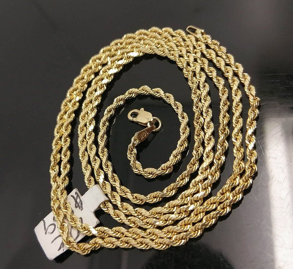 10k Gold Chain Solid Men Women Real Rope 3mm 18 20 22 24 26 28 Inch Real In 2021 Gold Chains For Men 10k Gold Chain Gold Chains