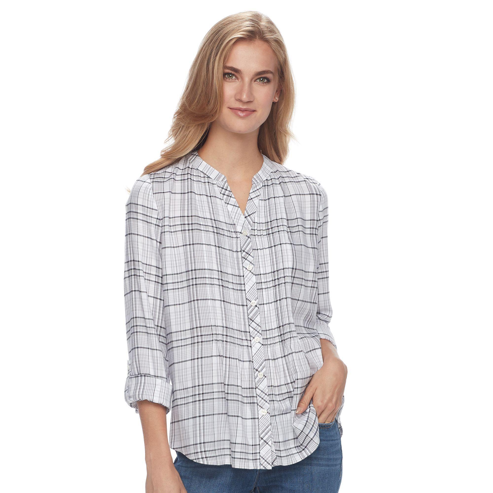 3f313c3633a77 Women s Croft   Barrow® Plaid Pintuck Shirt