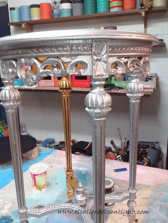 Pintar muebles en plata paso a paso que producto pinta - Muebles pintados en plata ...