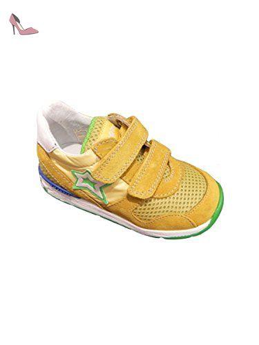 Falcotto Chaussures Premiers Pas Pour Bébé (Fille) - Jaune - Jaune, 25 EU EU